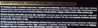 Czekolada gorzka 70% - Ingrediënten - pl