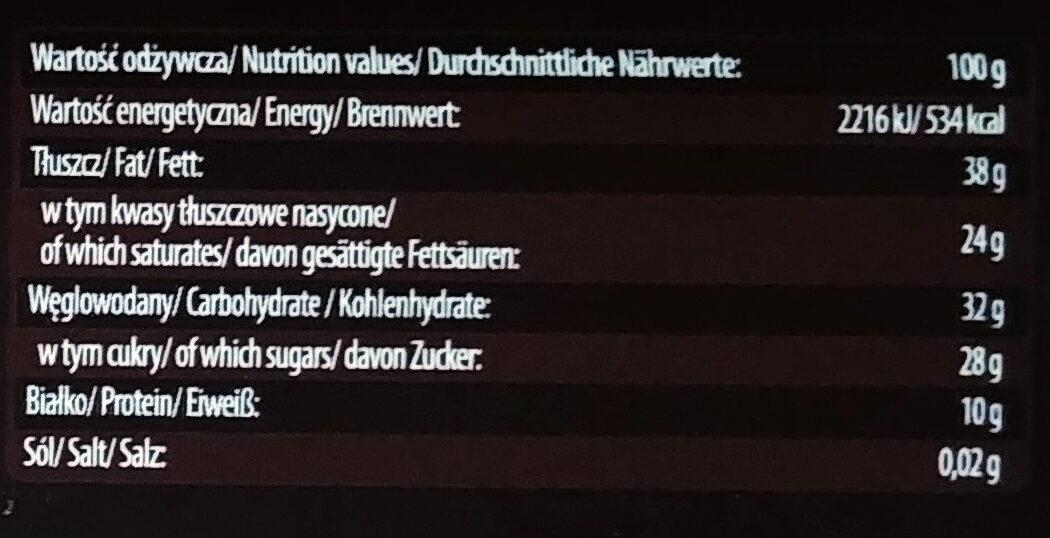 Czekolada gorzka 70% - Voedingswaarden - pl