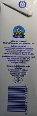 Mleko UHT 3,5 % - Ingredients