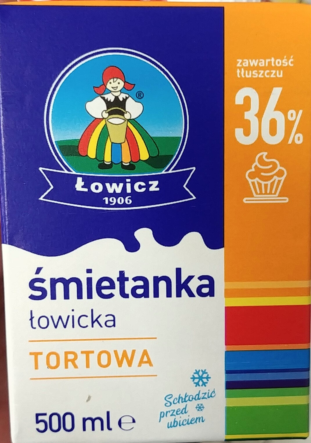 Śmietanka UHT 36% Łowicka - Product - en