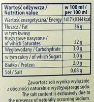 Śmietanka UHT 36% Łowicka - Nutrition facts - en