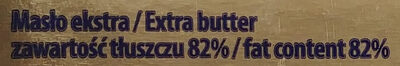 Masło Ekstra 82% - Składniki - pl