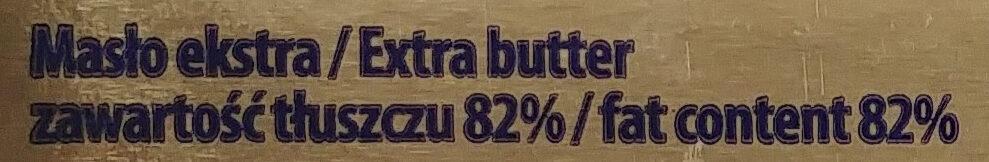 Masło Ekstra 82% - Ingredients - pl