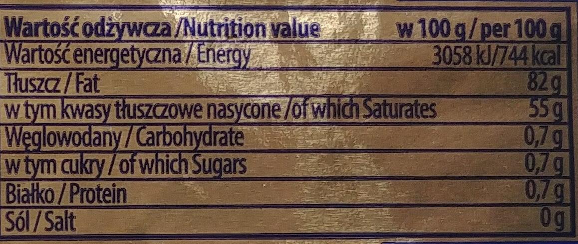 Masło Ekstra 82% - Nutrition facts - pl