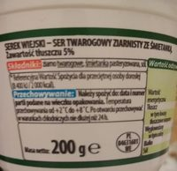 Cottage cheese - Wartości odżywcze - en