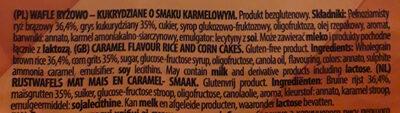 Wafle ryżowo-kukurydziane o smaku karmelowym - Ingrédients - pl
