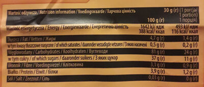 Wafle ryżowo-kukurydziane o smaku karmelowym - Informations nutritionnelles - pl
