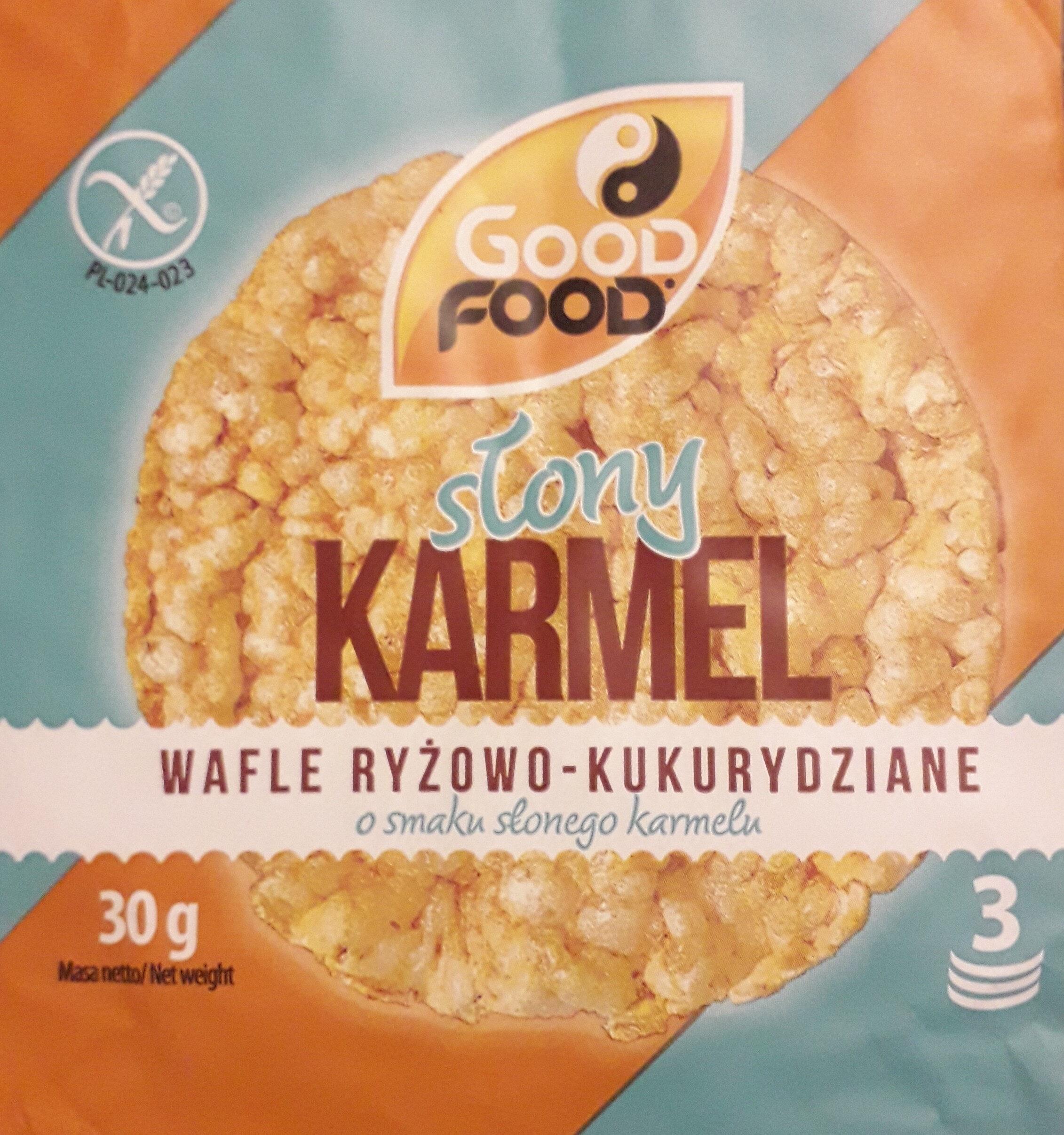 Wafle ryżowo-kukurydziane o smaku słonego karmelu - Produit - pl
