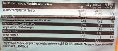 Wafle ryżowo-kukurydziane o smaku słonego karmelu - Informations nutritionnelles - pl