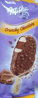 Lody waniliowe i lody czekoladowe w polewie z czekolady mlecznej z kuleczkami ryżowymi i kawałkami słodkich herbatników - Produkt - pl