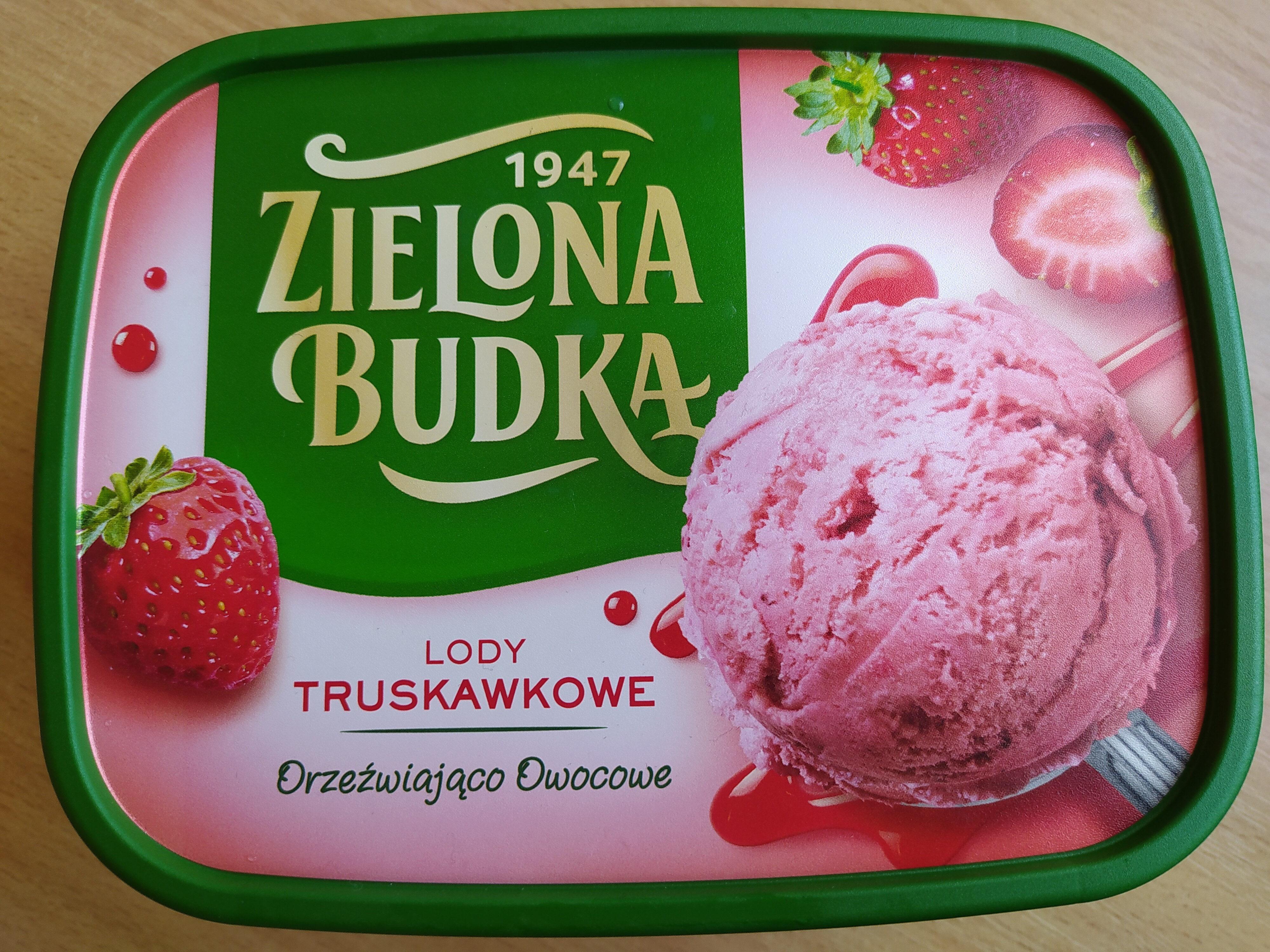 zielona budka lody truskawkowe - Produkt - pl