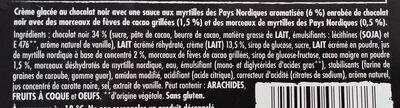 Nuii Ice cream adventure - dark chocolate & nordic berry - 264 g/360 ml - X4 - Ingrédients - fr