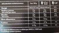 Nuii amande & vanille de java - Nutrition facts