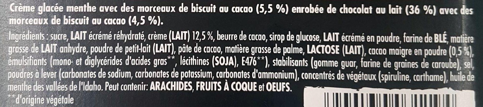 Cookie & Idaho valley mint ice cream - Ingrédients - fr