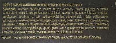 Mini lody na patyku - Składniki - pl