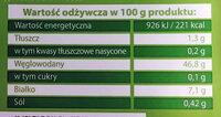 Uszka z kapustą i grzybami - Wartości odżywcze - pl