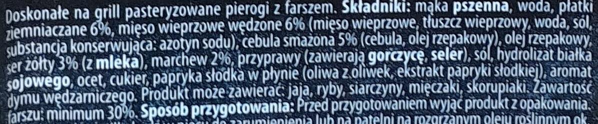 Pierogi carskie - Składniki - pl