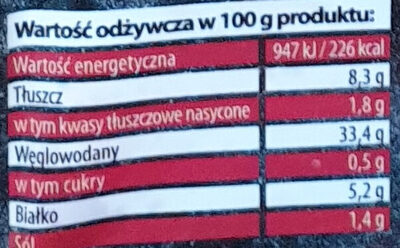 Pierogi carskie - Wartości odżywcze - pl