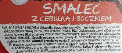 Smalec z cebulką i boczkiem - Ingredients - pl