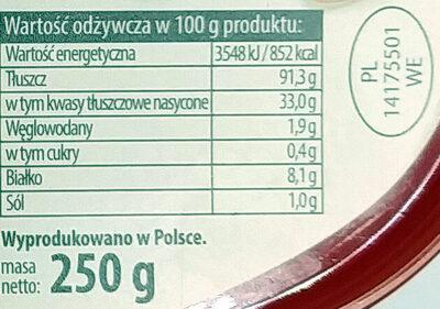 Smalec z cebulką i boczkiem - Nutrition facts - pl