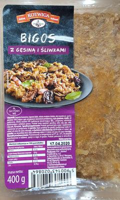 Bigos z gęsiną i śliwkami - Produkt - pl