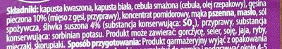 Bigos z gęsiną i śliwkami - Składniki - pl