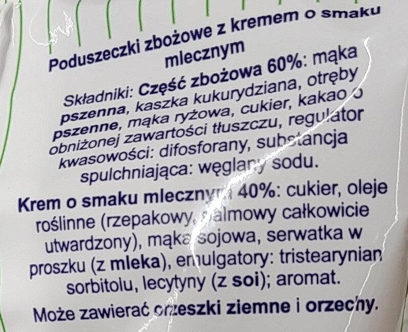 Jaśki z kremem o smaku mlecznym - Składniki - pl