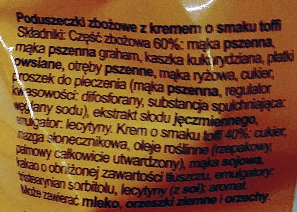 Poduszki zbożowe z kremem o smaku toffi - Składniki - pl