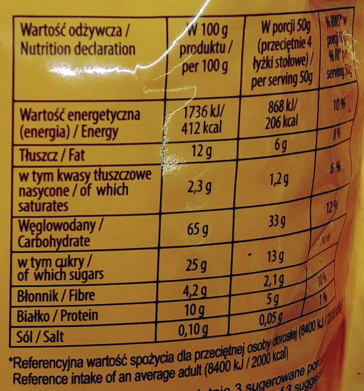 Poduszki zbożowe z kremem o smaku toffi - Wartości odżywcze - pl