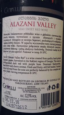 Alzani Valley - Ingredients