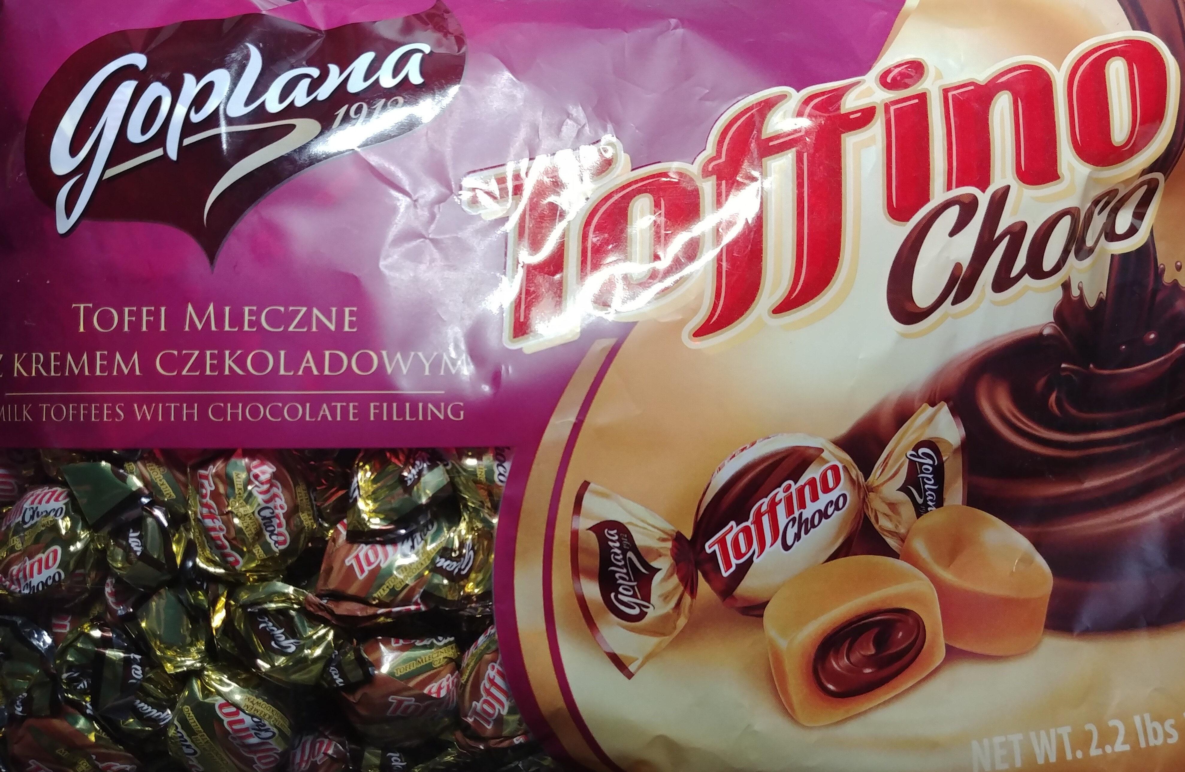 Toffi mleczne nadziewane kremem czekoladowym 18% - Producte