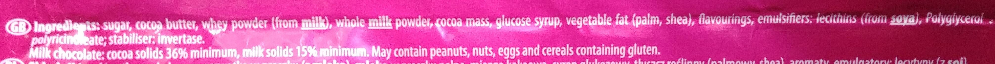 Czekolada mleczna z nadzieniem o smaku karmelowym - Ingredients