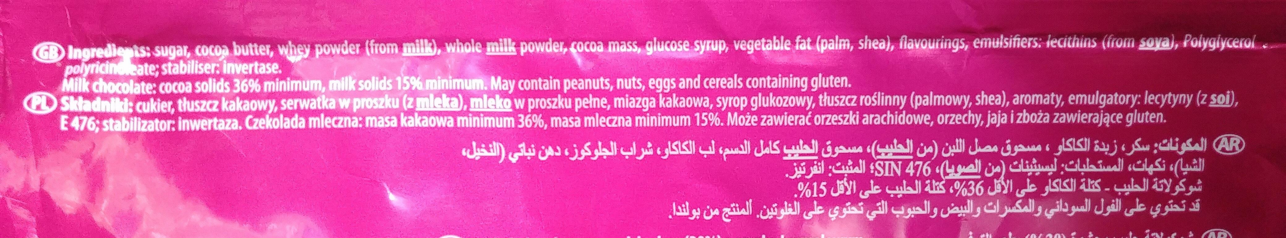 Czekolada mleczna z nadzieniem o smaku karmelowym - Składniki - pl