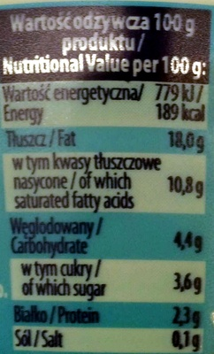 Śmietana 18% - Wartości odżywcze - pl