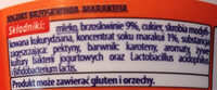 Jogurt brzoskwinia-marakuja - Ingredients