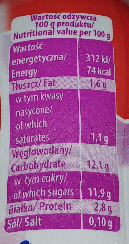 Jogurt do picia z owocami leśnymi - Nutrition facts