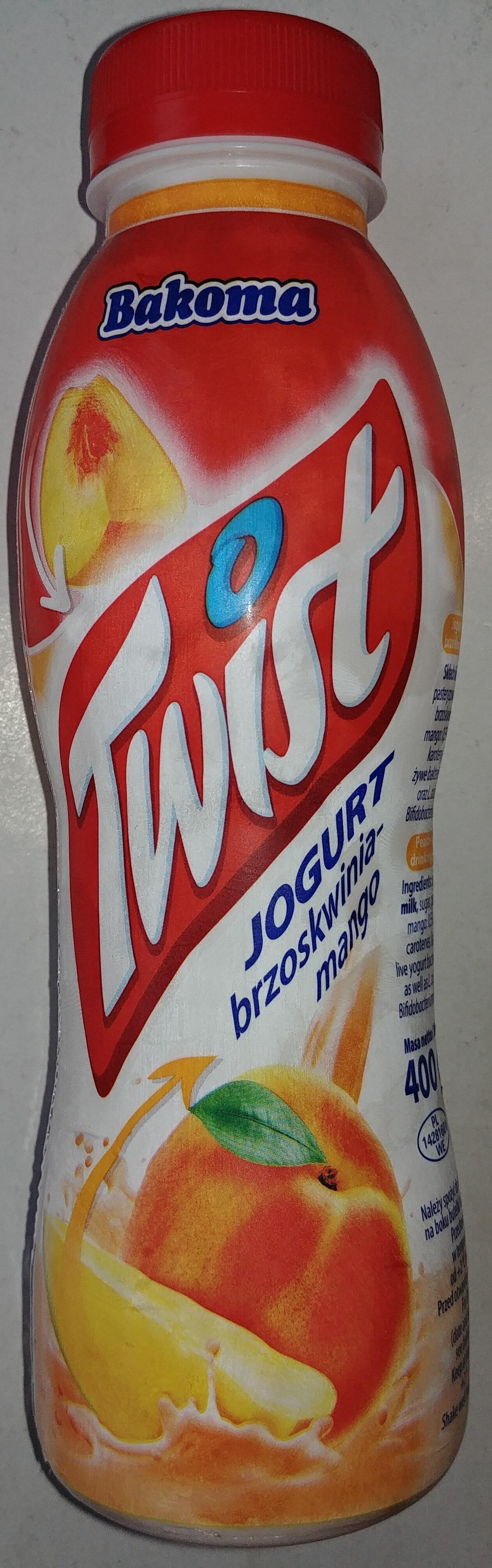 Jogurt do picia brzoskwinia - mango. - Product