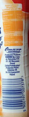 Jogurt do picia brzoskwinia - mango. - Nutrition facts