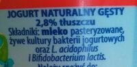 jogurt Naturalny Gęsty - Składniki - pl