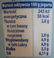 jogurt Naturalny Gęsty - Wartości odżywcze - pl