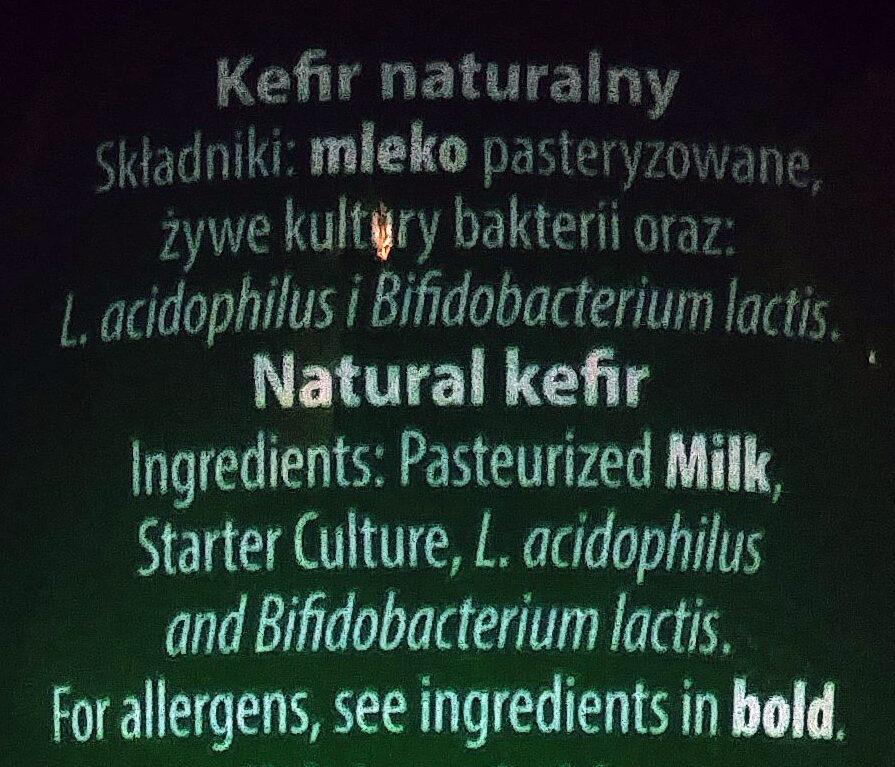 Kefir - Składniki