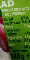 Jogurt 7 zbóż że śliwkami - Wartości odżywcze - pl