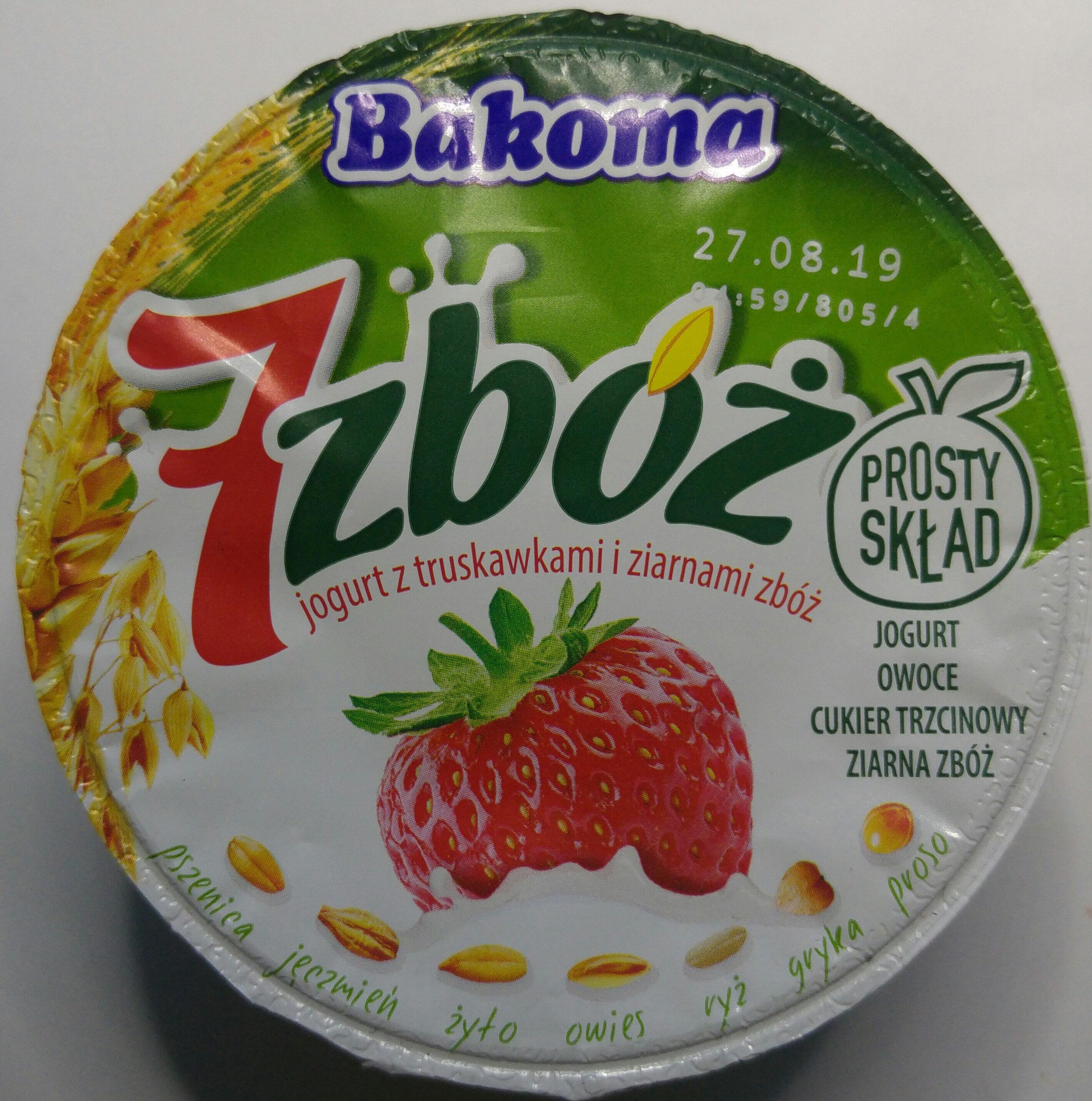 Jogurt 7 zbóż z truskawkami. - Produkt - pl