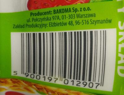 Jogurt 7 zbóż z truskawkami. - Wartości odżywcze