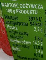 Jogurt 7 zbóż z truskawkami. - Wartości odżywcze - pl