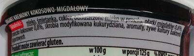 Jogurt kremowy kokosowy-migdały - Ingredients