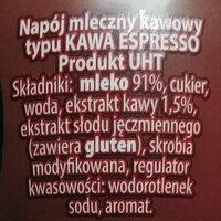 Satino Coffe - Inhaltsstoffe - pl