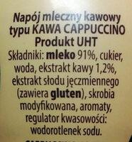 Satino coffee - Składniki - pl