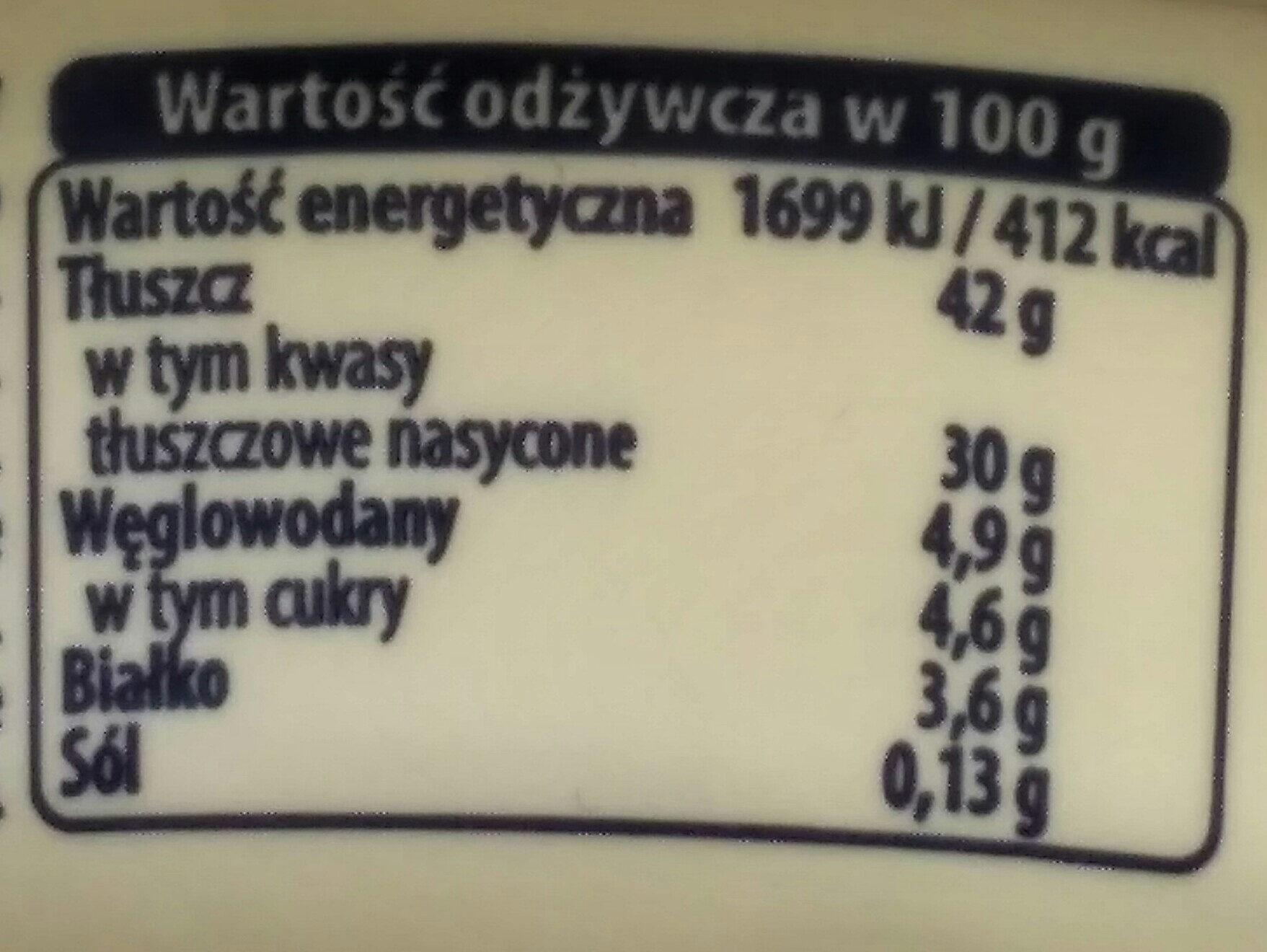 Mascarpone - Wartości odżywcze - pl