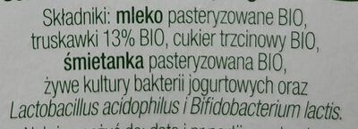 Jogurt Bio z truskawkami - Ingredients